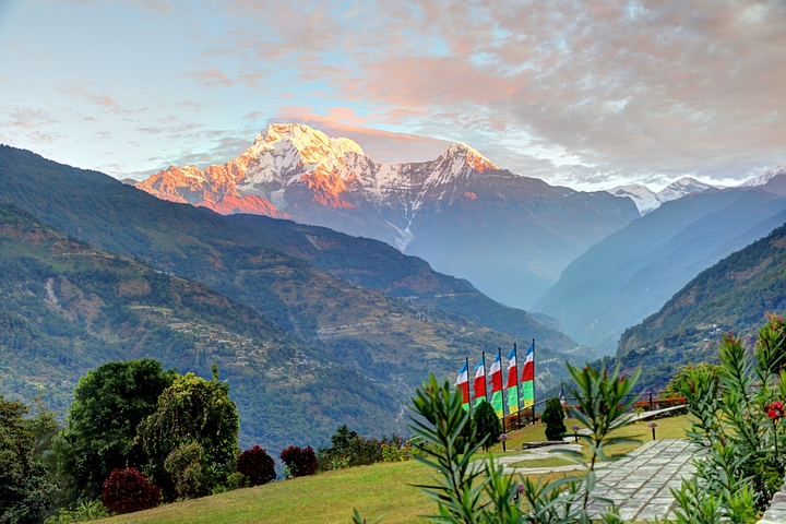 Sunrise over Annapurna Valley