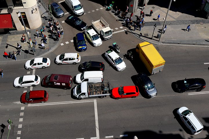 Traffic on the Gran Vía